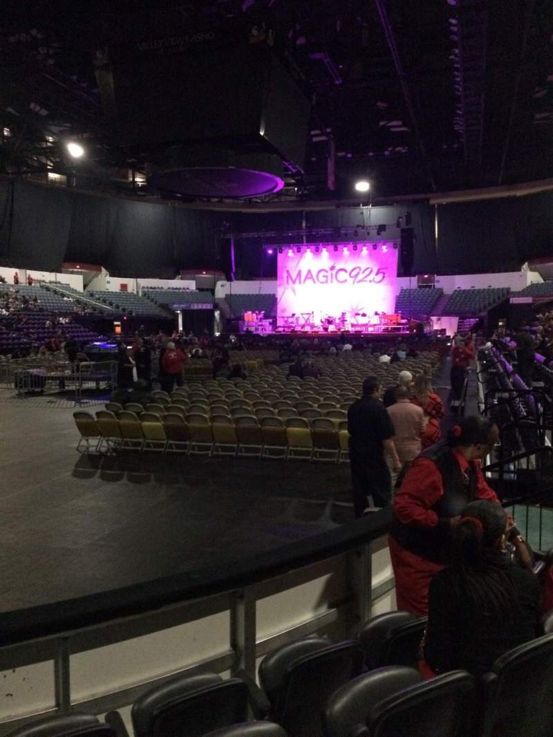 Seating view for Valley View Casino Center Section LL17 Row 4 Seat 10