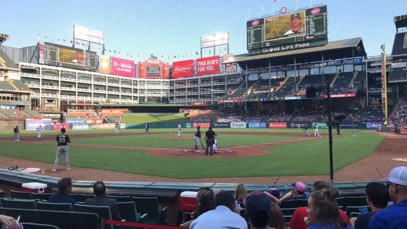 Seating view for Globe Life Park in Arlington Section 25 Row 5 Seat 3