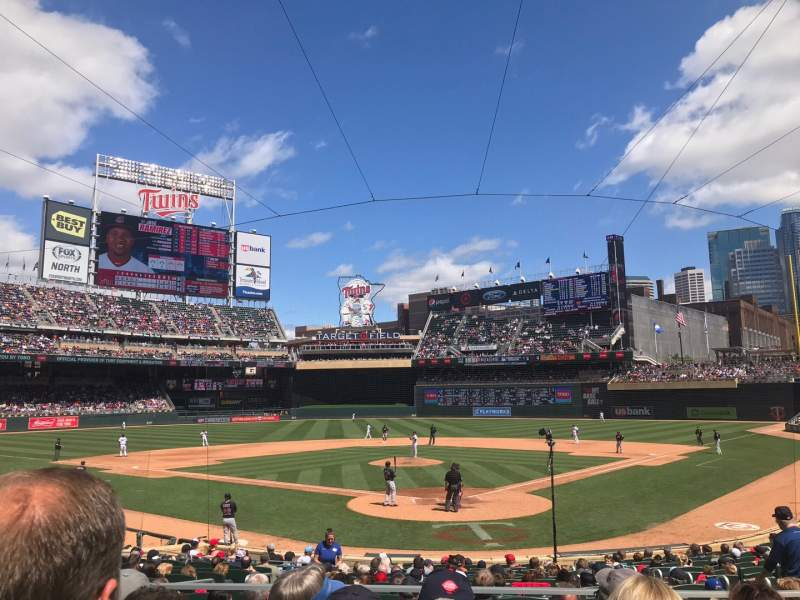Seating view for Target Field Section 115 Row 4 Seat 5