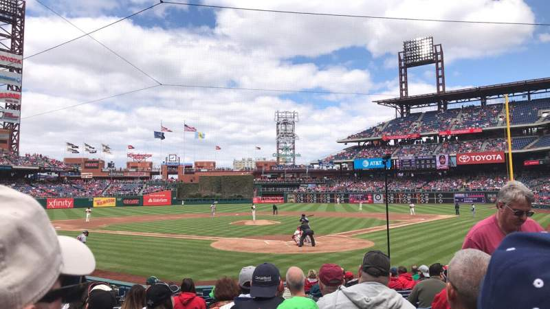 Seating view for Citizens Bank Park Section C Row 14 Seat 3