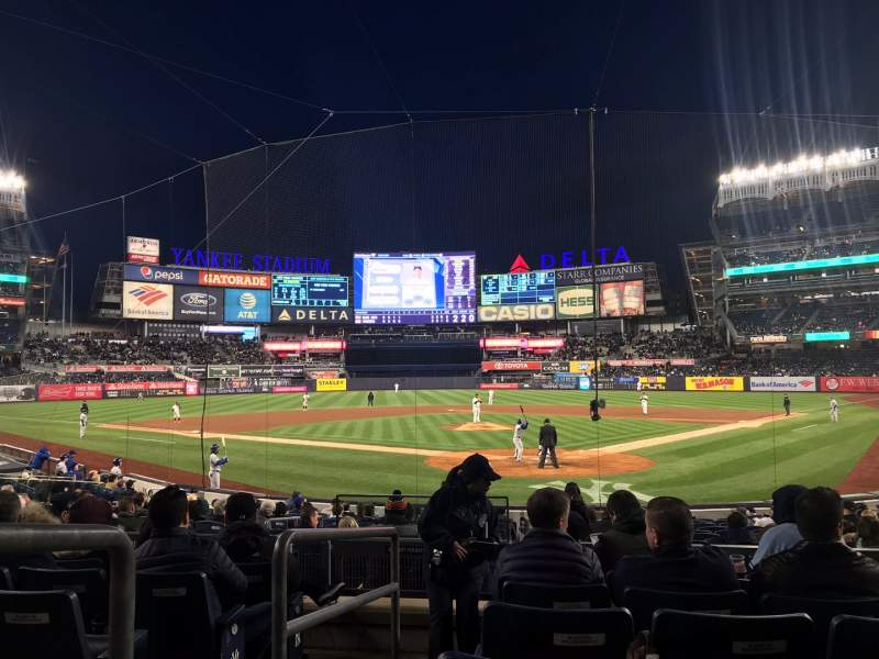 Seating view for Yankee Stadium Section 121A Row 7 Seat 1