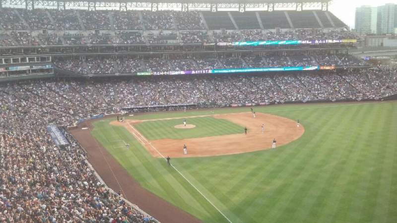 Seating view for Coors Field Section 311 Row 1 Seat 9