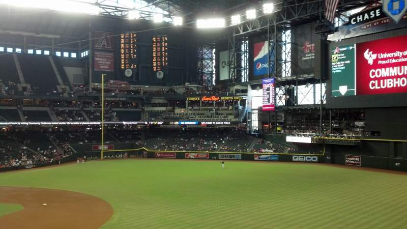 Seating view for Chase Field Section 204 Row 1 Seat 7