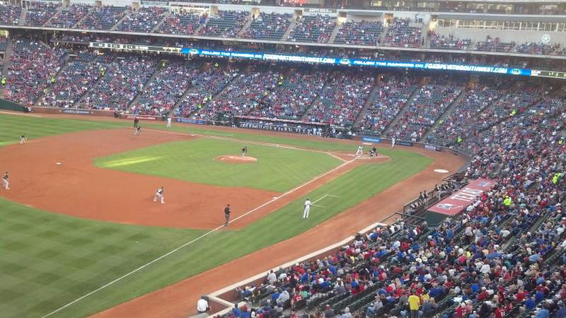 Seating view for Globe Life Park in Arlington Section 213 Row 1 Seat 6