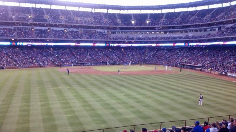 Seating view for Globe Life Park in Arlington Section 54 Row 18 Seat 1