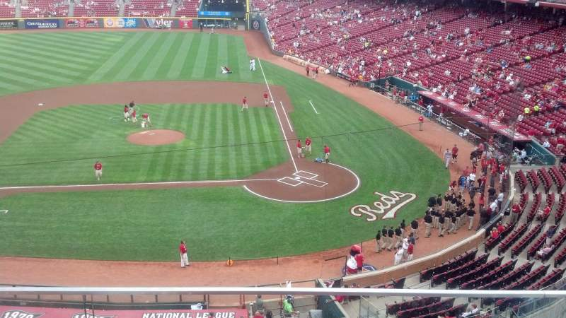 Seating view for Great American Ball Park Section 419 Row B Seat 3