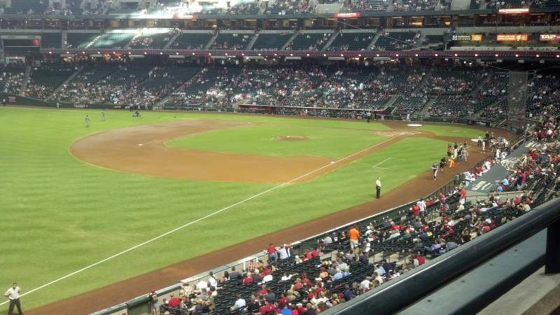 Seating view for Chase Field Section 218 Row 1 Seat 18