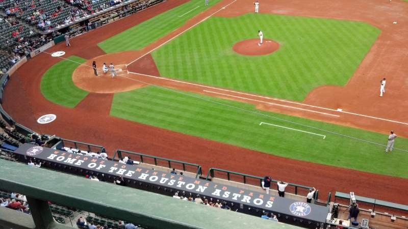 Seating view for Minute Maid Park Section 327 Row 1 Seat 9
