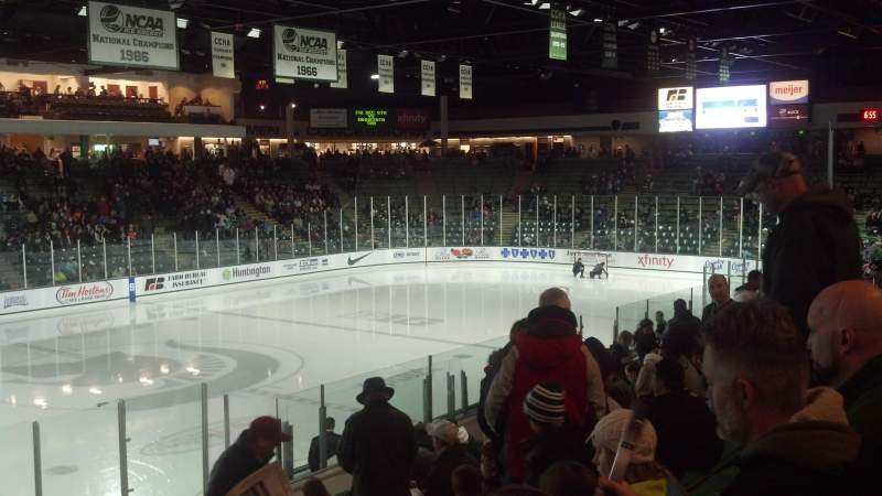 Seating view for Munn Ice Arena Section V Row 16 Seat 5