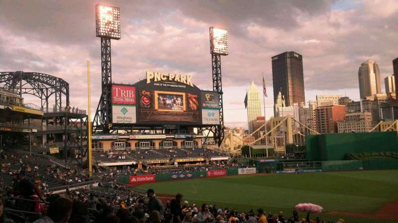 Seating view for PNC Park Section 121 Row V Seat 12