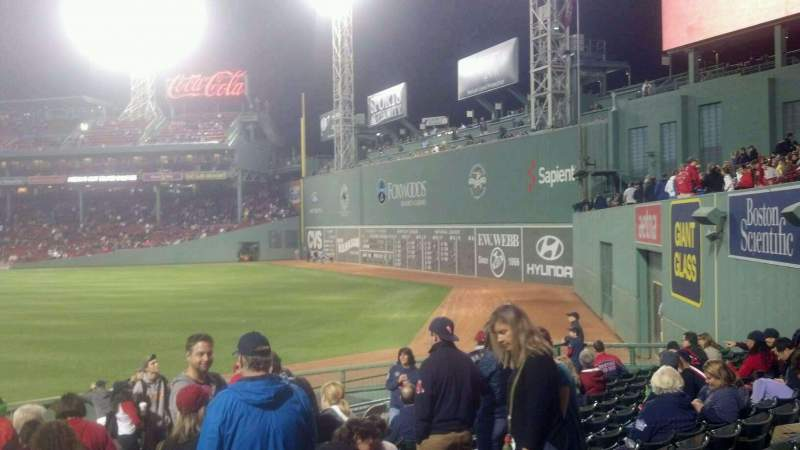 Seating view for Fenway Park Section Bleacher 41 Row 14 Seat 1