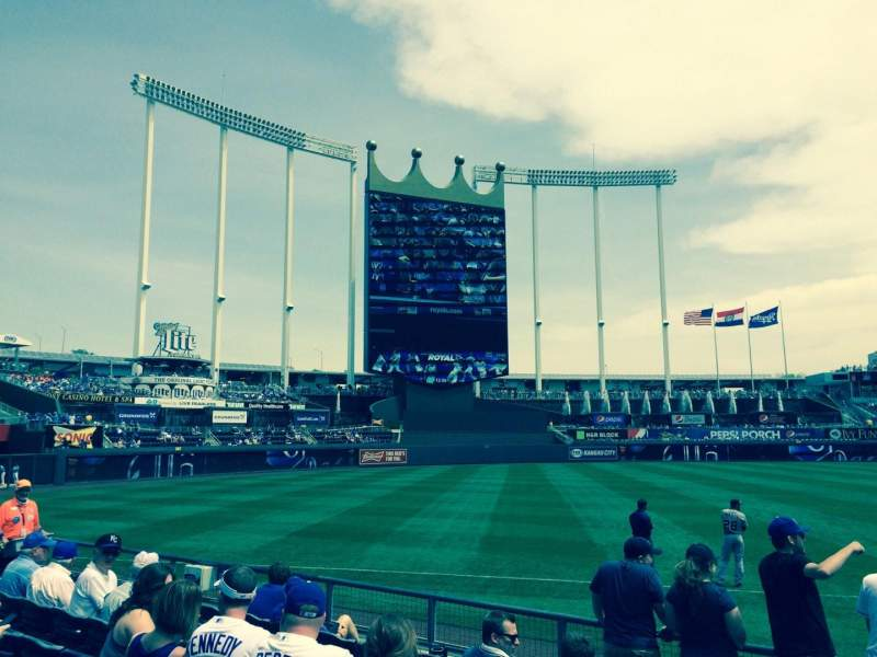 Seating view for Kauffman Stadium Section 115 Row H Seat 2