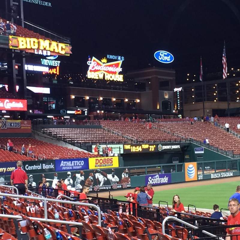 Seating view for Busch Stadium Section 161 Row 7 Seat 10