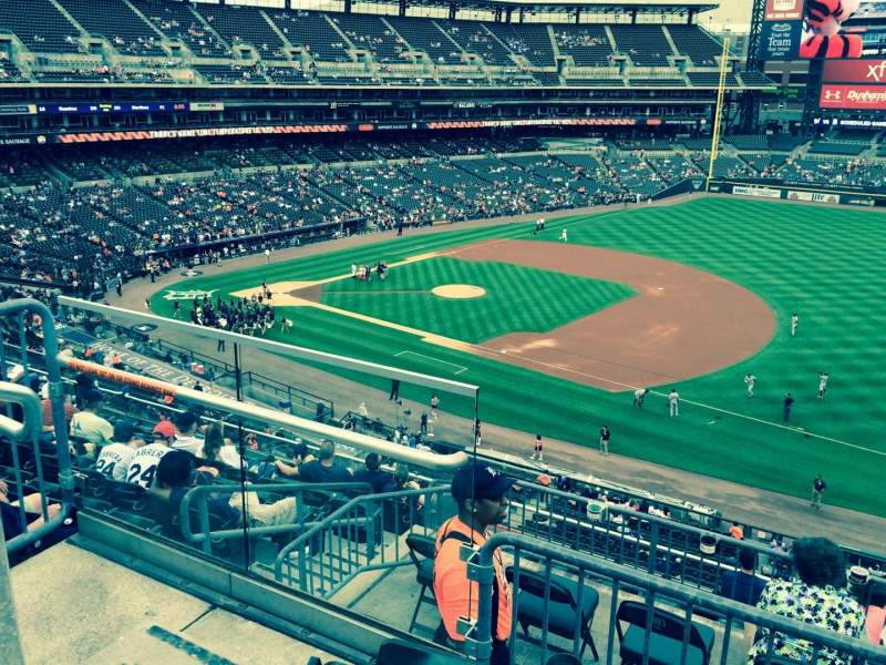 Seating view for Comerica Park Section 217 Row 3 Seat 22
