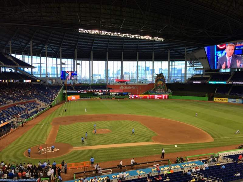 Seating view for Marlins Park Section 211 Row 1 Seat 9