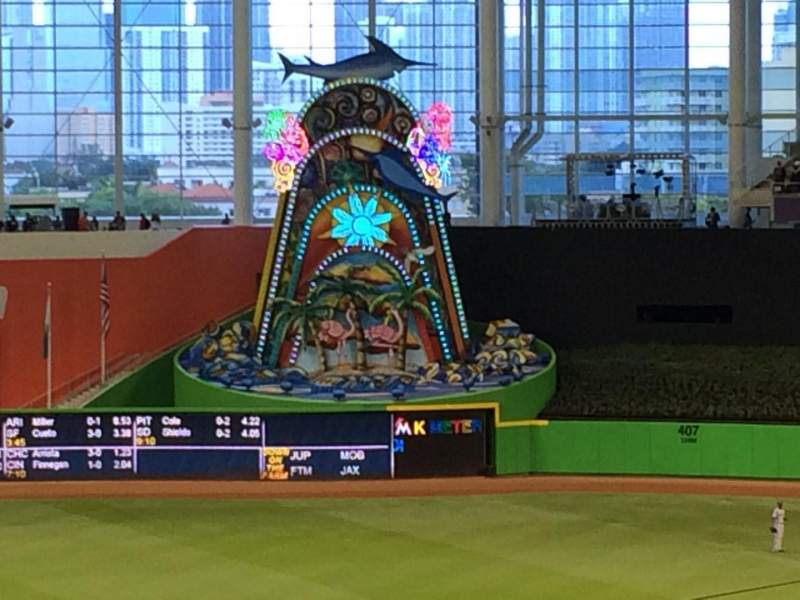 Marlins Park, section: 211, row: 1, seat: 9