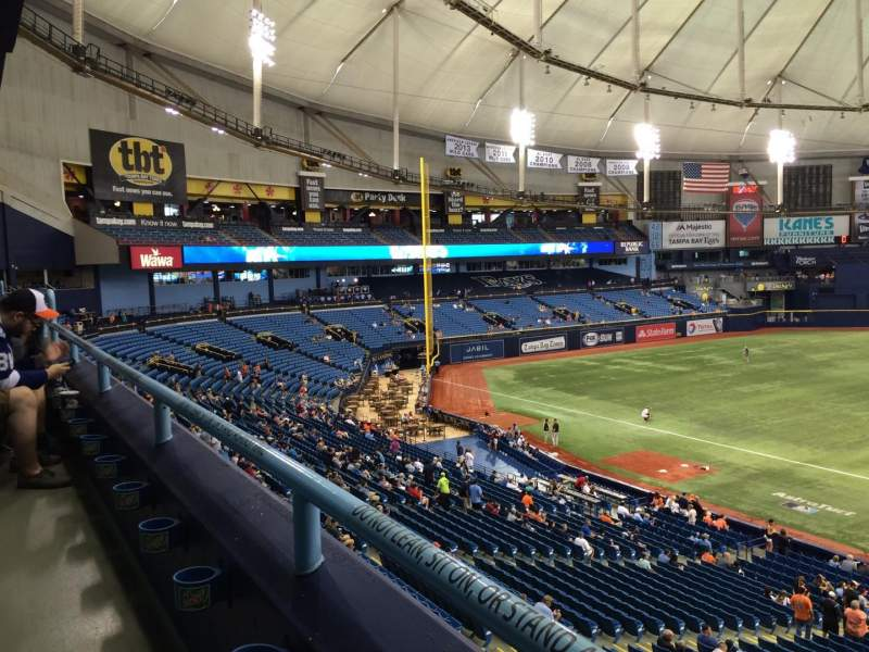 Seating view for Tropicana Field Section 211 Row A Seat 17