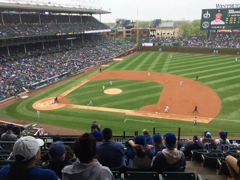 Wrigley Field, section 430, home of Chicago Cubs