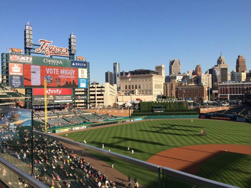 Seating view for Comerica Park Section 331 Row A Seat 14