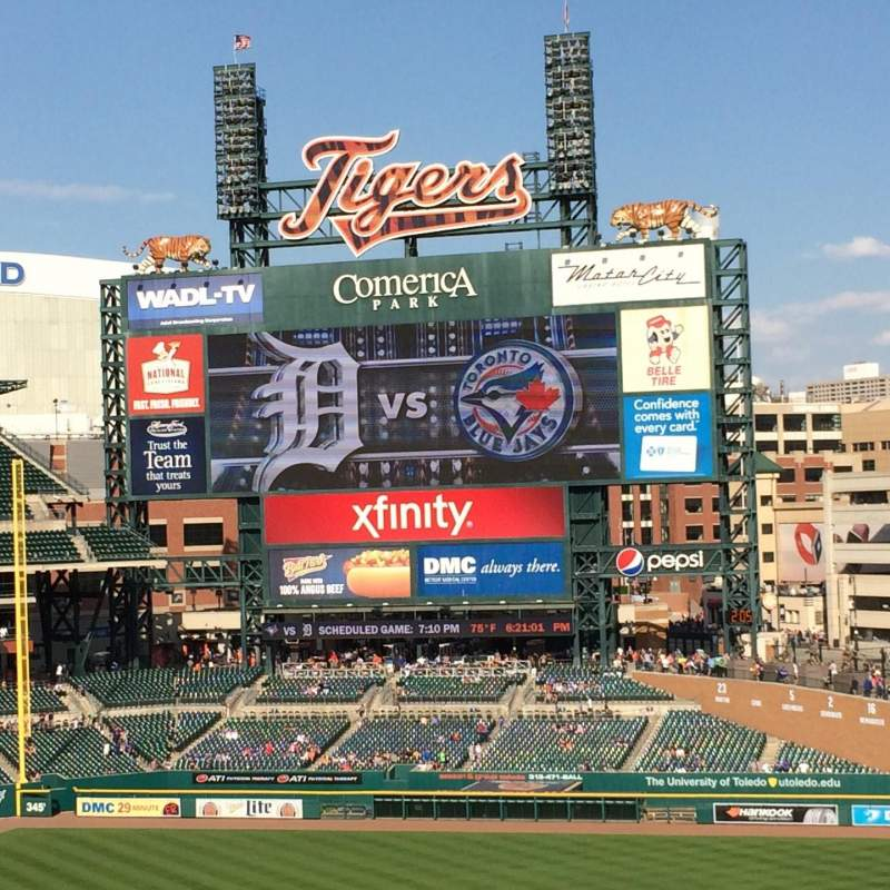 Seating view for Comerica Park Section 216 Row 8 Seat 11
