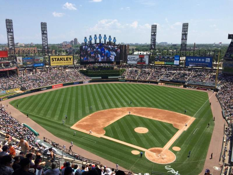 Seating view for Guaranteed Rate Field Section 535 Row 19 Seat 2