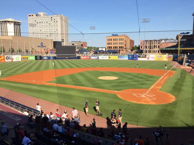 Seating view for Fifth Third Field Section 207 Row 1 Seat 4