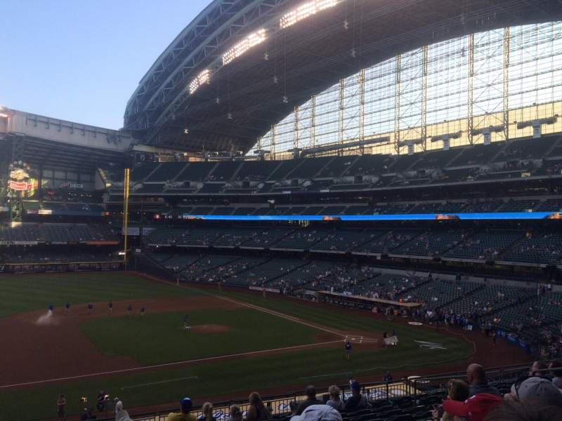 Seating view for Miller Park Section 225 Row 13 Seat 9