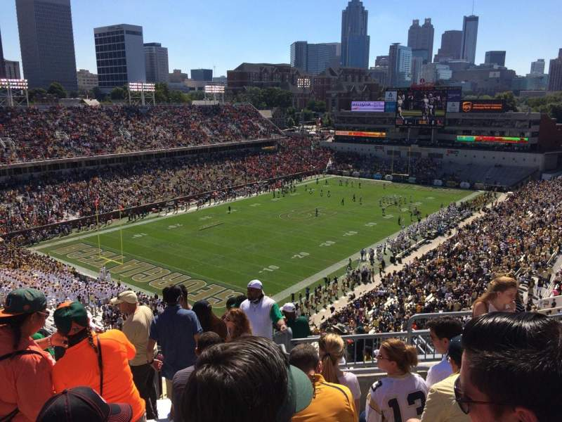 Seating view for Bobby Dodd Stadium Section 210 Row 17 Seat 14