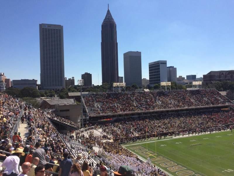 Bobby Dodd Stadium, section: 210, row: 17, seat: 14