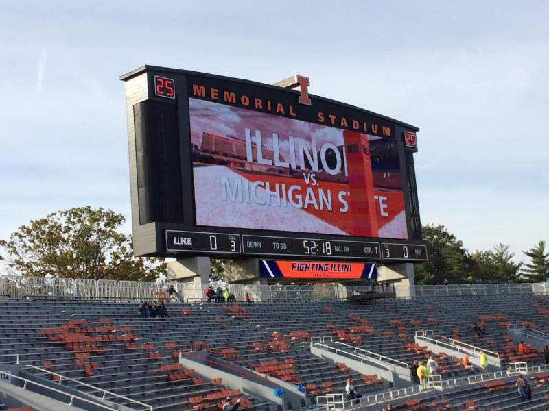 Seating view for Memorial Stadium (Champaign) Section 109 Row 32 Seat 20