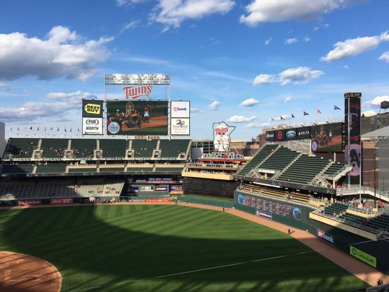 Seating view for Target Field Section 207 Row 1 Seat 3