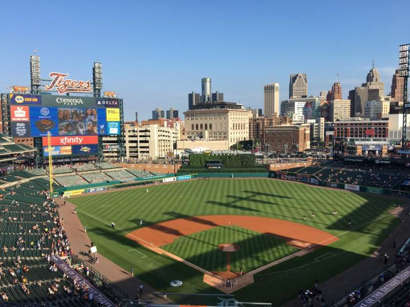 Seating view for Comerica Park Section 327 Row 13 Seat 23