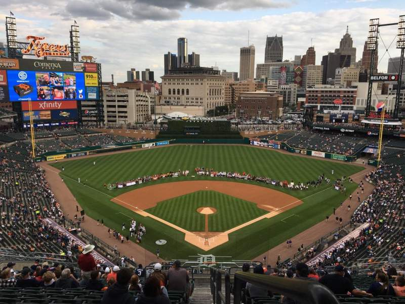 Seating view for Comerica Park Section 327 Row 20 Seat 28