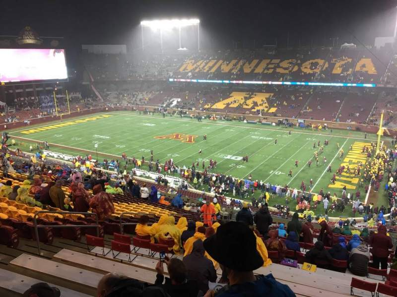 TCF Bank Stadium, section: 226, row: 25, seat: 15