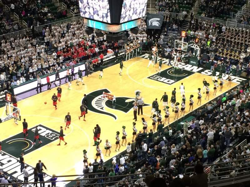 Seating view for Breslin Center Section 231 Row 17 Seat 4