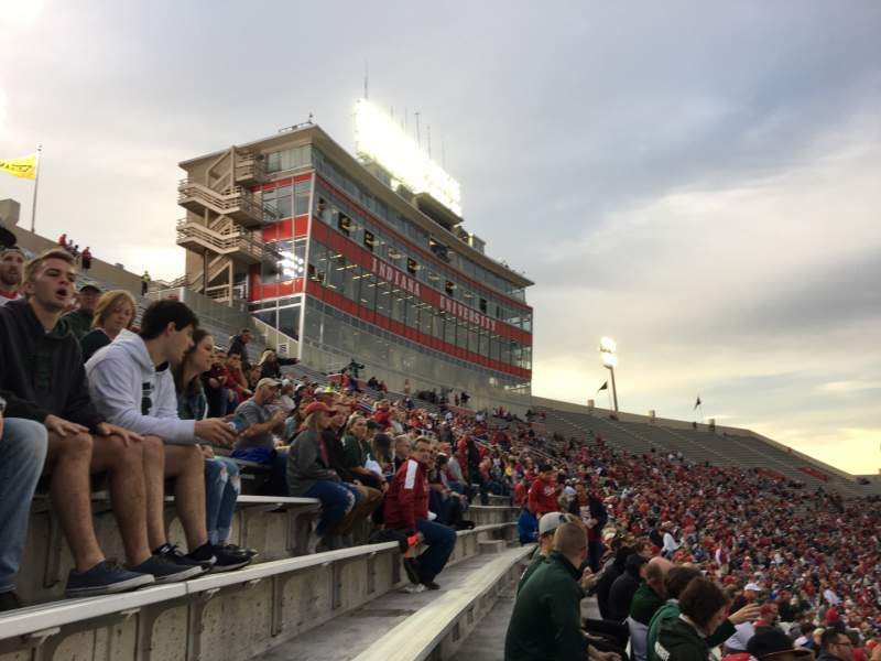 Seating view for Memorial Stadium (Indiana) Section 102 Row 5 Seat 1