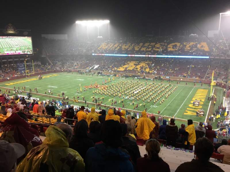 Seating view for TCF Bank Stadium Section 236 Row 22 Seat 14