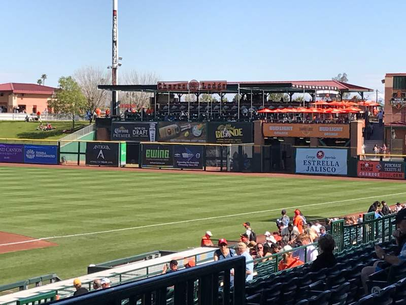 Seating view for Scottsdale Stadium Section 306 Row 3 Seat 6