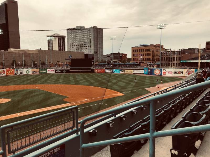 Seating view for Fifth Third Field Section 212 Row C Seat 1