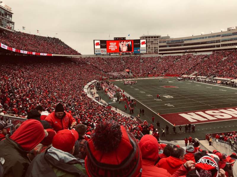 Seating view for Camp Randall Stadium Section Z2 Row 55 Seat 40