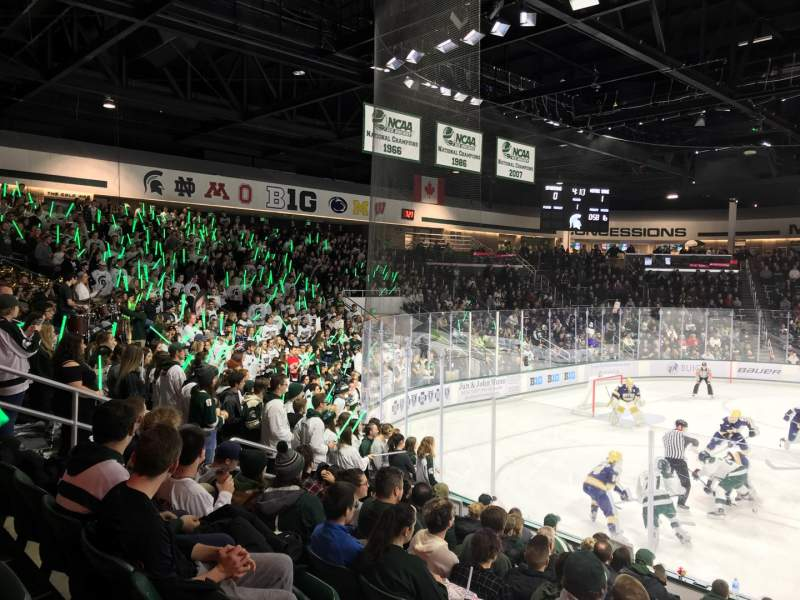 Seating view for Munn Ice Arena Section W Row 11 Seat 4