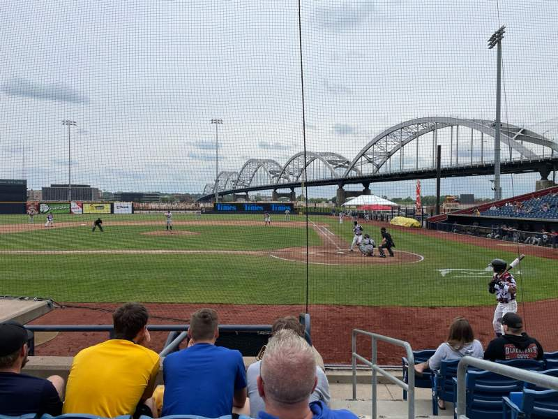 Seating view for Modern Woodmen Park Section 9 Row H Seat 1