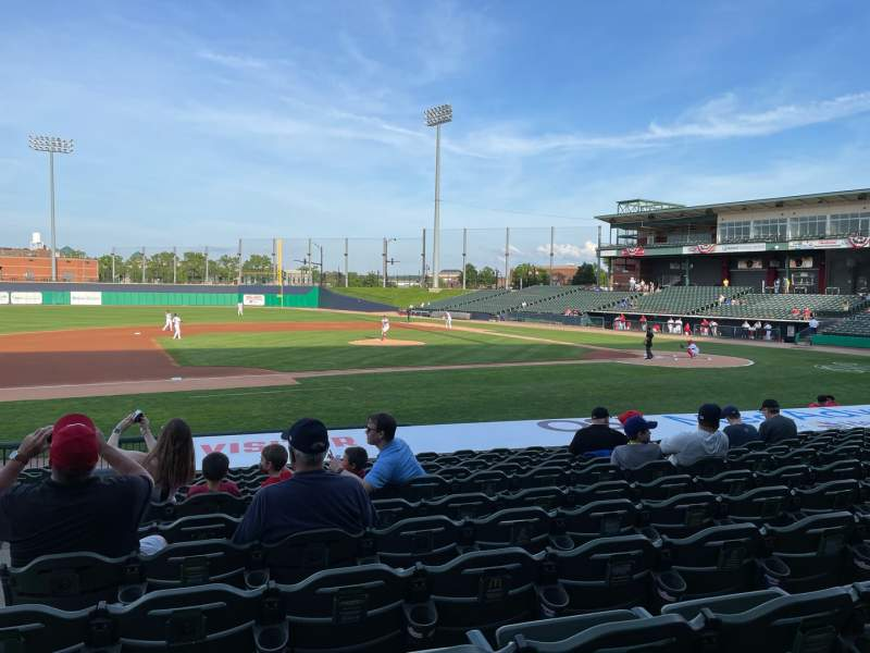 Seating view for Dozer Park Section 112 Row 16 Seat 20