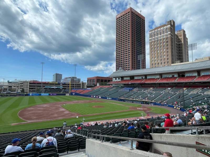 Seating view for Sahlen Field Section 115 Row EE Seat 1