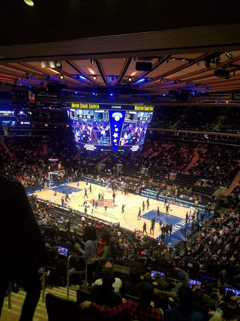 Seating view for Madison Square Garden Section 214 Row 10