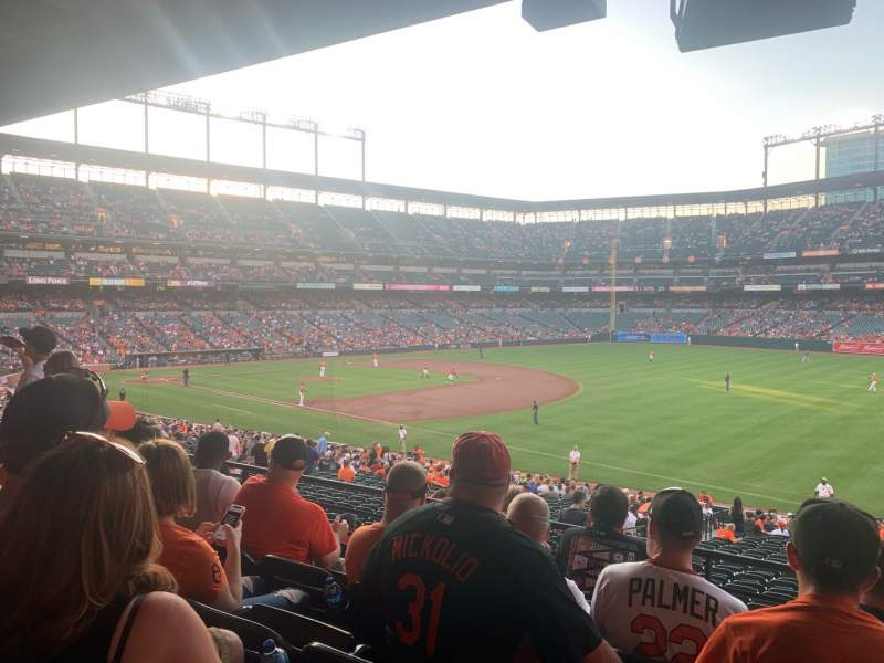 Seating view for Oriole Park at Camden Yards Section 11 Row 5