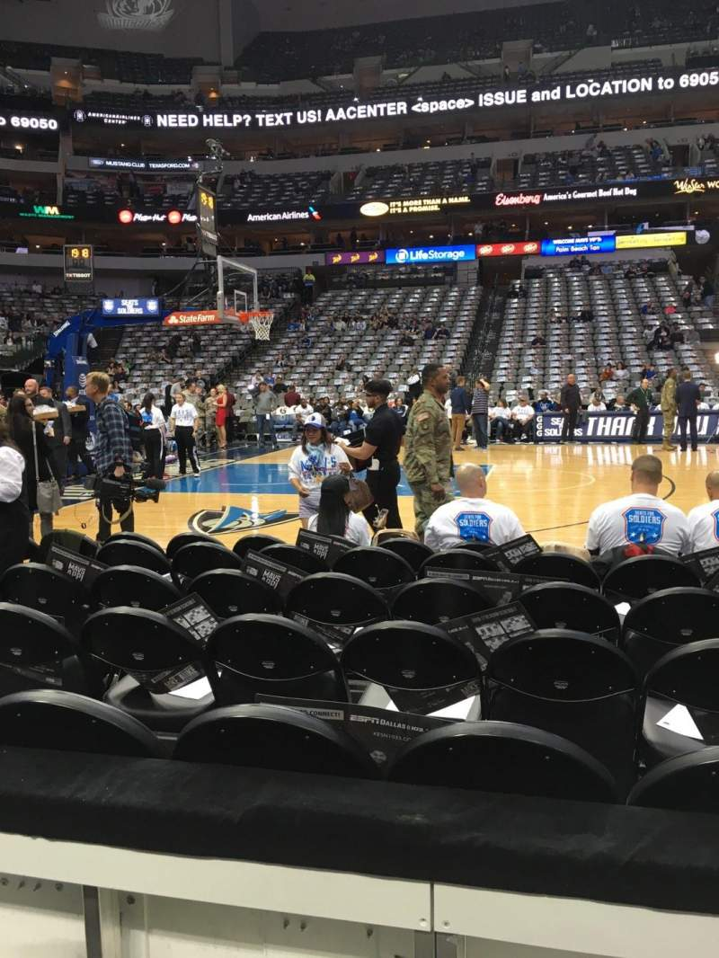 Seating view for American Airlines Center Section 108 Row A Seat 10