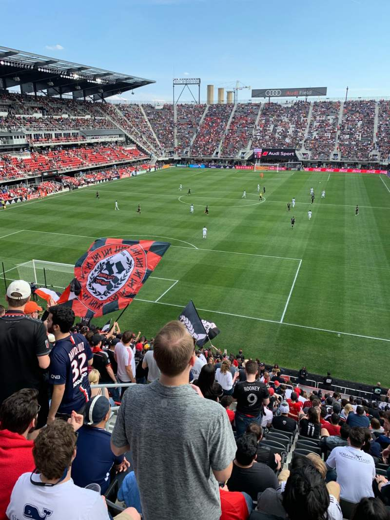 Seating view for Audi Field Section 135 Row 22 Seat 14
