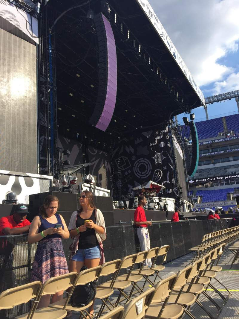 Seating view for M&T Bank Stadium Section A5 Row 3 Seat 13