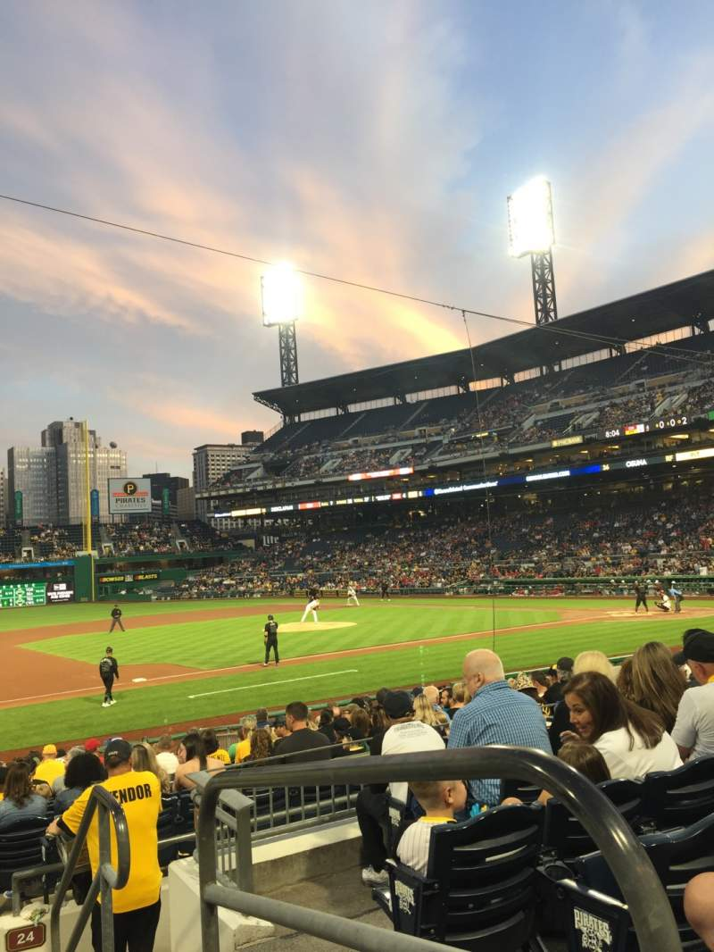 Seating view for PNC Park Section 125 Row F Seat 1